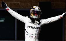 Hamilton paladea el campeonato