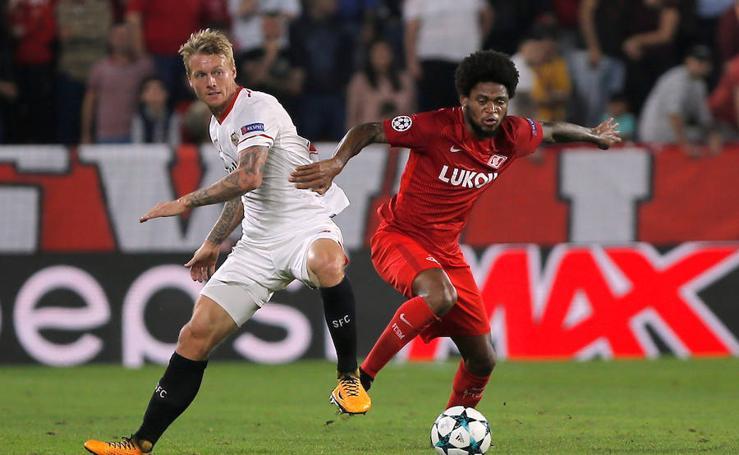 Los mejores momentos del Sevilla-Spartak, en imágenes