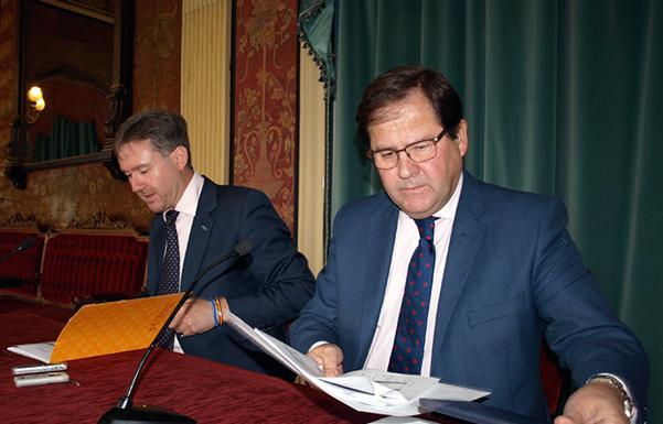 Javier Lacalle y Salvador de Foronda han presentado el proyecto presupuestario/PCR