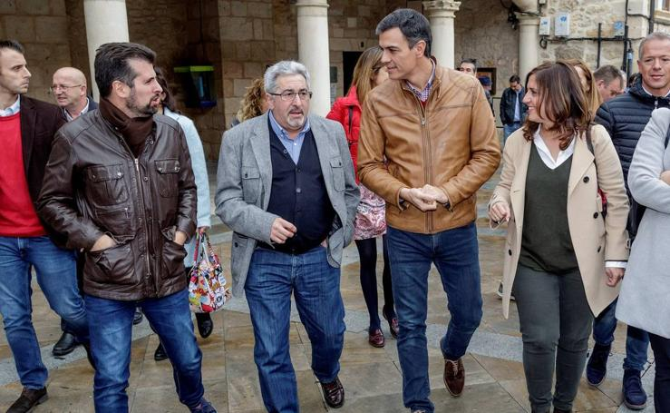 Pedro Sánchez visita Oña