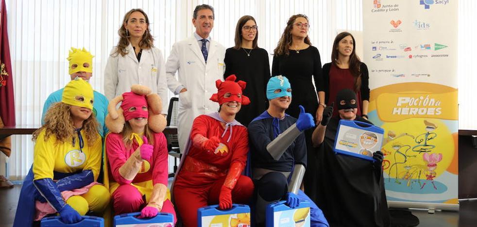 Seis superhéroes llegan al HUBU para ayudar a los niños con cáncer
