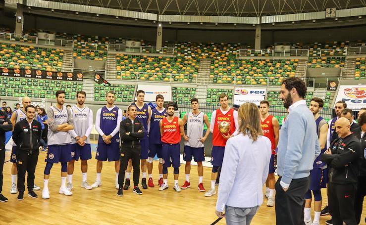 Entrenamiento de la Selección Española en Burgos