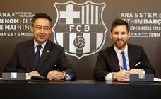 Messi y el Barça escenifican la renovación soñada