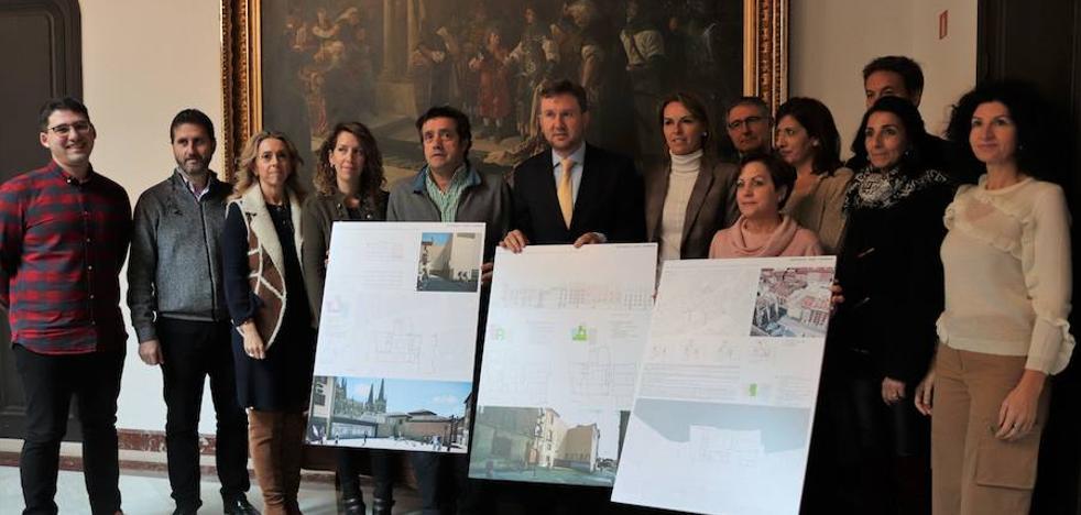Juego de verticales para acoger la memoria de Burgos