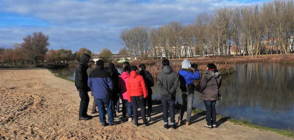 15 jóvenes de Autismo Burgos vistan las escalas de peces del río Arlanzón