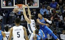 Los Thunder de Abrines pueden con los Grizzlies de Marc Gasol