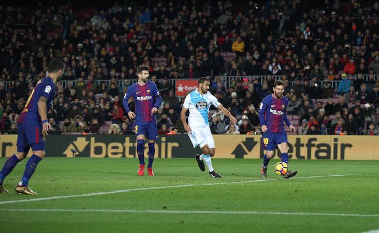 Las mejores imágenes del Barcelona-Deportivo
