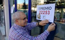 Un Quinto Premio, el 22.253, deja 42.000 euros en Burgos, la única alegría de la Lotería de Navidad