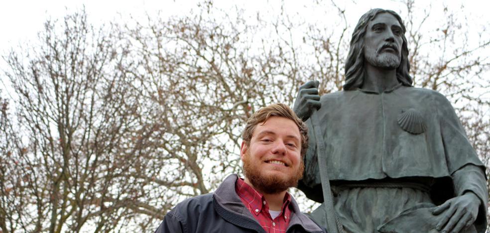 Un estudiante de la UBU, peregrino 300.000 del Camino de Santiago en 2017