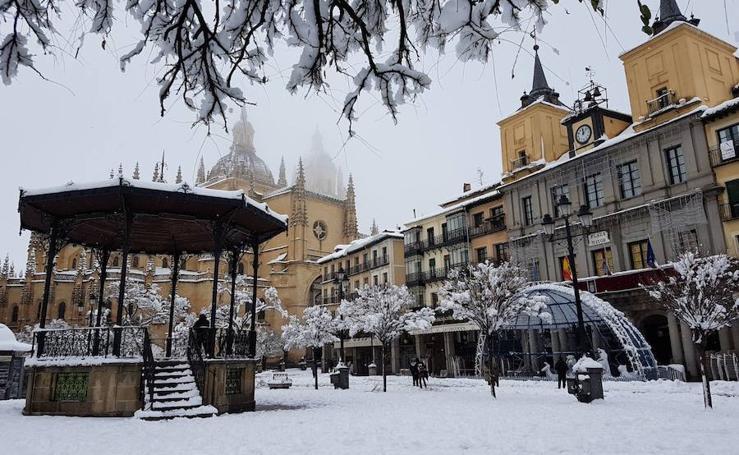 La comunidad de Castilla y León cubierta de nieve