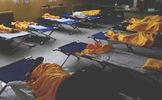 Más de un centenar de afectados se refugian en el colegio de San Rafael