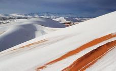 El desierto también se cubre de blanco por la nieve