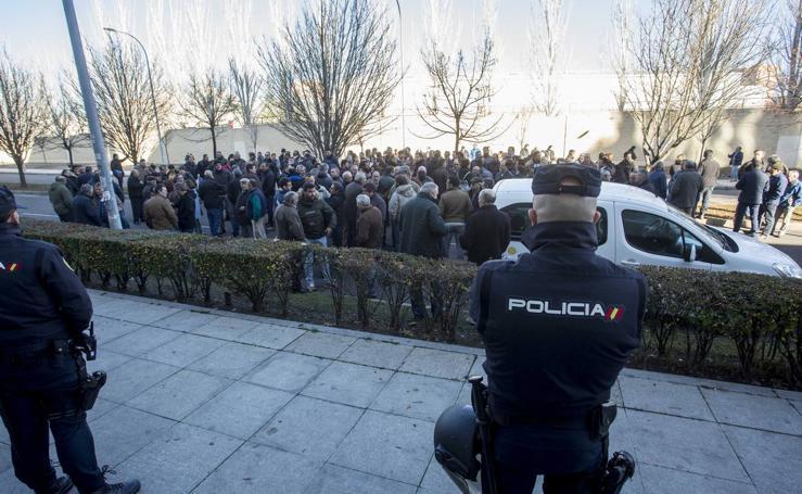 Manifestación del sector lácteo ovino en Valladolid