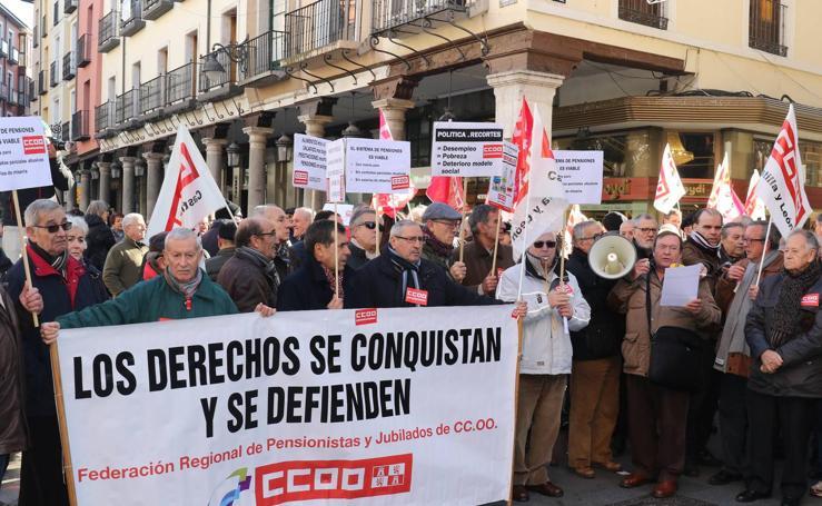 Movilización en Valladolid en defensa de la pensiones