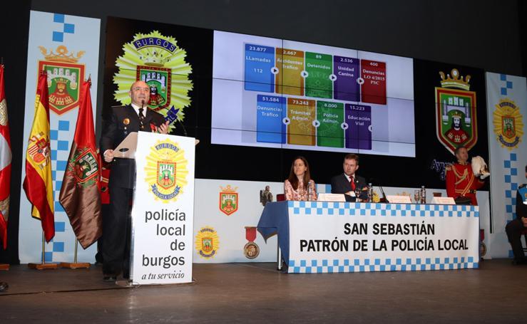 La Policía Local celebra su patrón, San Sebastián, haciendo balance