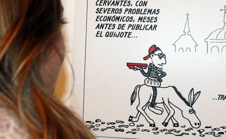 La Casa Revilla acoge la exposición 'Don Quijote, Sancho y Forges. Un diálogo a tres bandas'