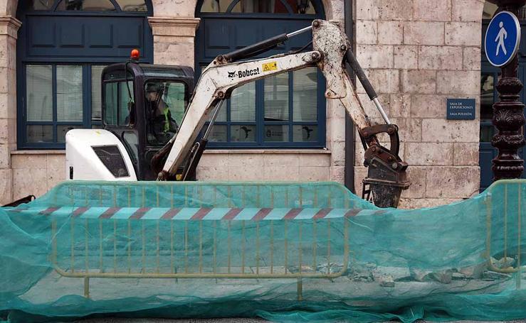 Comienzan las obras del proceso de remodelación de la Plaza Mayor