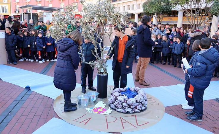 Acto por el Día de la Paz del Colegio Saldaña
