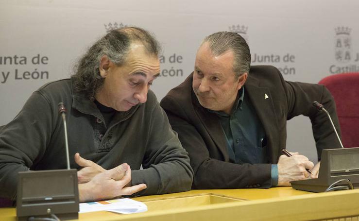 Milagros Marcos y los representates de las organizaciones agrarias presentan los resultados de las elecciones