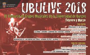 Ocho bandas competirán en el UBULive 2018
