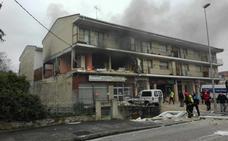 Los cuatro heridos en la explosión de Villasana de Mena están ingresados en Cruces