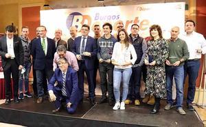 Cristina Gutiérrez, Diego Epifanio e Iñaki Sicilia, los reyes de BurgosDeporte en 2017