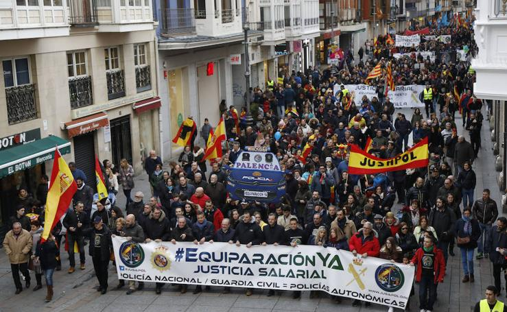 Policías nacionales y guardias civiles reclaman justicia salarial