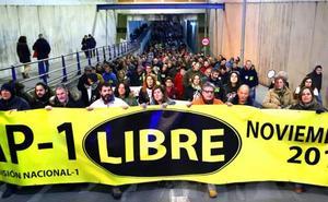 La Comisión de la N-1 pide al Gobierno que cumpla con la «obligación» y liberalice la AP-1