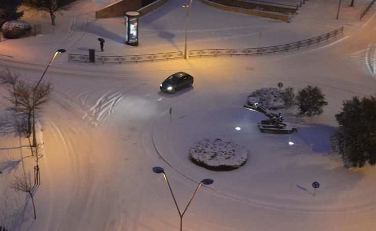 La nieve regresa a Burgos