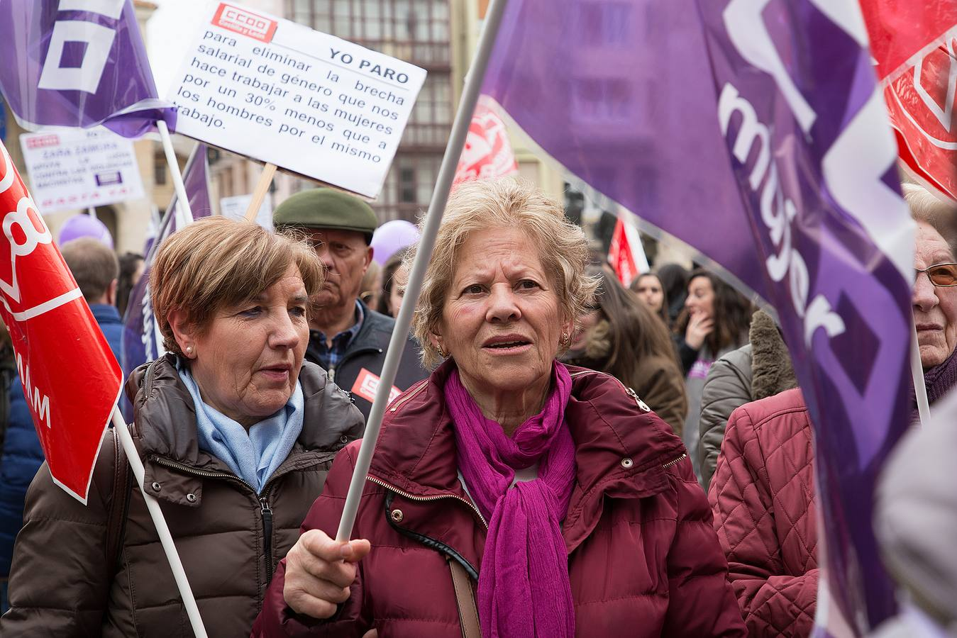 Las mujeres de Castilla y León salen a la calle en el 8-M