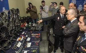 Desarticulado un grupo criminal dedicado al robo de llantas, volantes y asientos de alta gama
