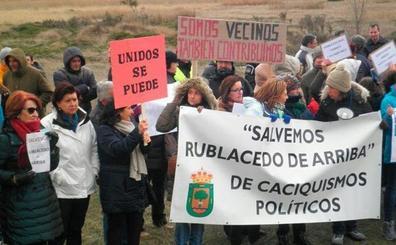 Las protestas en Rublacedo vuelven por Semana Santa
