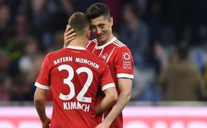 El Bayern se divierte e intimida a once días de recibir al Real Madrid