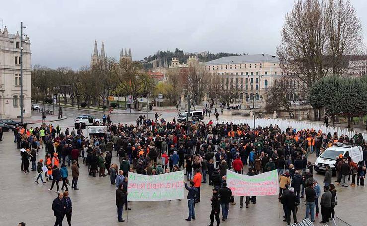 Concentración de cazadores en Burgos