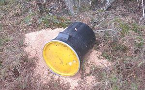 Retiran un cebadero ilegal con un atrayente prohibido para cazar animales salvajes