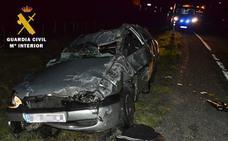 Herido grave un conductor que carecía de carnet y había consumido cocaína y cannabis