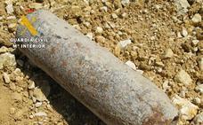 Destruyen un proyectil de artillería encontrado por un particular