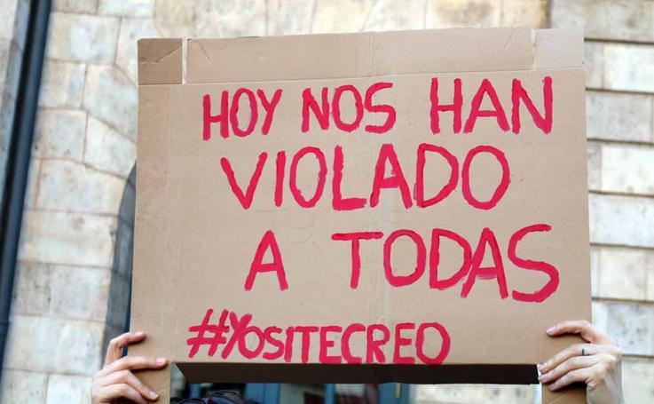 Manifestación en Burgos contra la sentencia de 'La Manada'