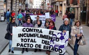 En la calle para exigir que se cumpla el pacto contra la violencia de género