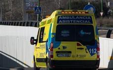 Un herido en una salida de vía en La Puebla de Arganzón