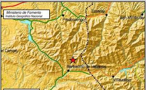 Un pequeño terremoto ha hecho temblar esta madrugada a Barbadillo de Herreros
