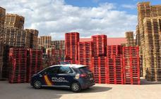 Recuperados más de 2.200 palés adquiridos de forma fraudulenta por una empresa burgalesa