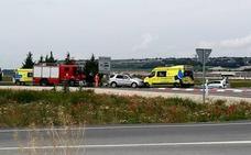 Heridas dos personas de consideración en un choque en el acceso sur a Íscar desde la CL-602