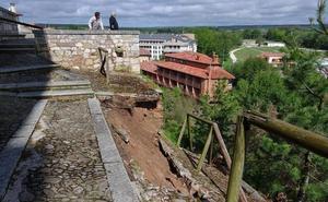 Nuevos desprendimientos en la ladera norte obligan a cerrar el paso tras la Colegiata de Lerma