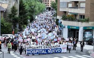 Cerca de 2.000 personas se manifiestan en Aranda para pedir el nuevo hospital