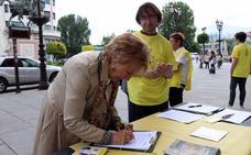 Firmas burgalesas para pedir a Putin libertad para los defensores de los Derechos Humanos