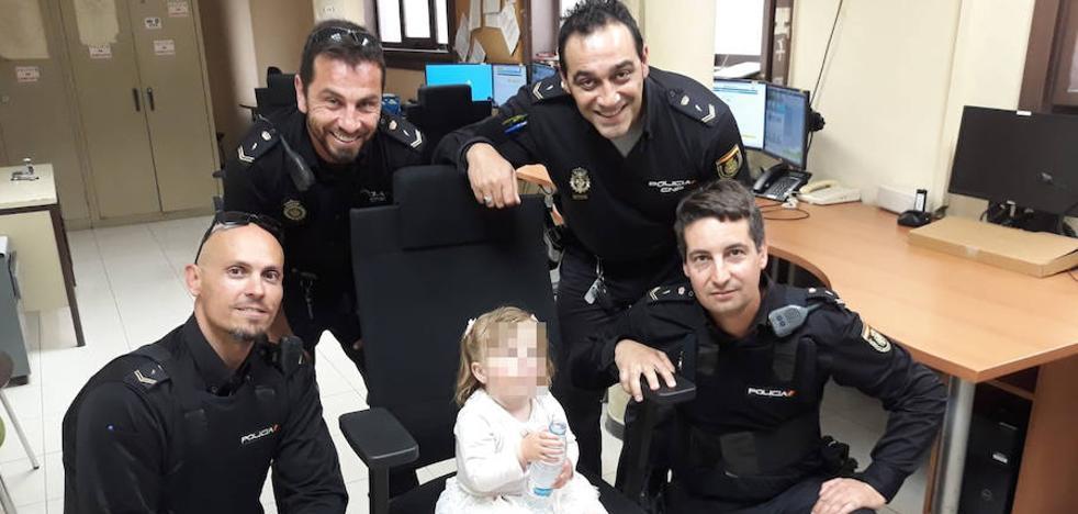 Los policías que encontraron a una niña sola en Palencia: «Estaba roja y sedienta; y su tío tardó 40 minutos en reclamarla. ¡Increíble!»