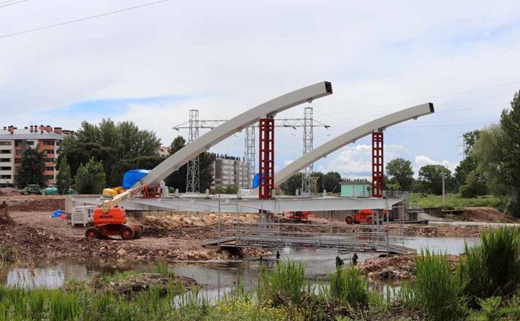 Así avanzan las obras en el Puente de las Rebolledas