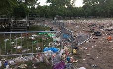 La resaca del Parral: 32.000 kilos de basura y 19 llamadas por incidencias sanitarias al 112