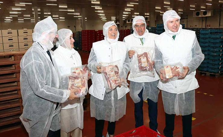 Visita institucional al nuevo almacén congelador de Campofrío Frescos